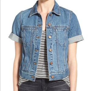 Madewell Short Sleeve Denim Jacket